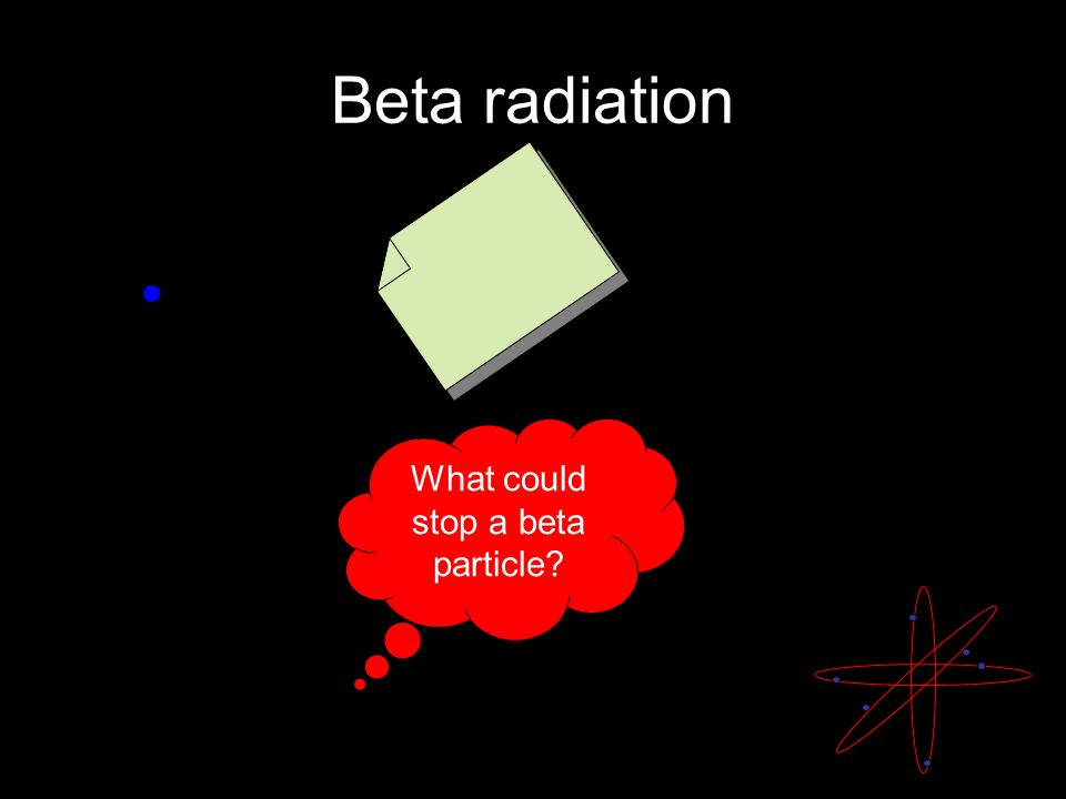 Beta radiation What could stop a beta particle?