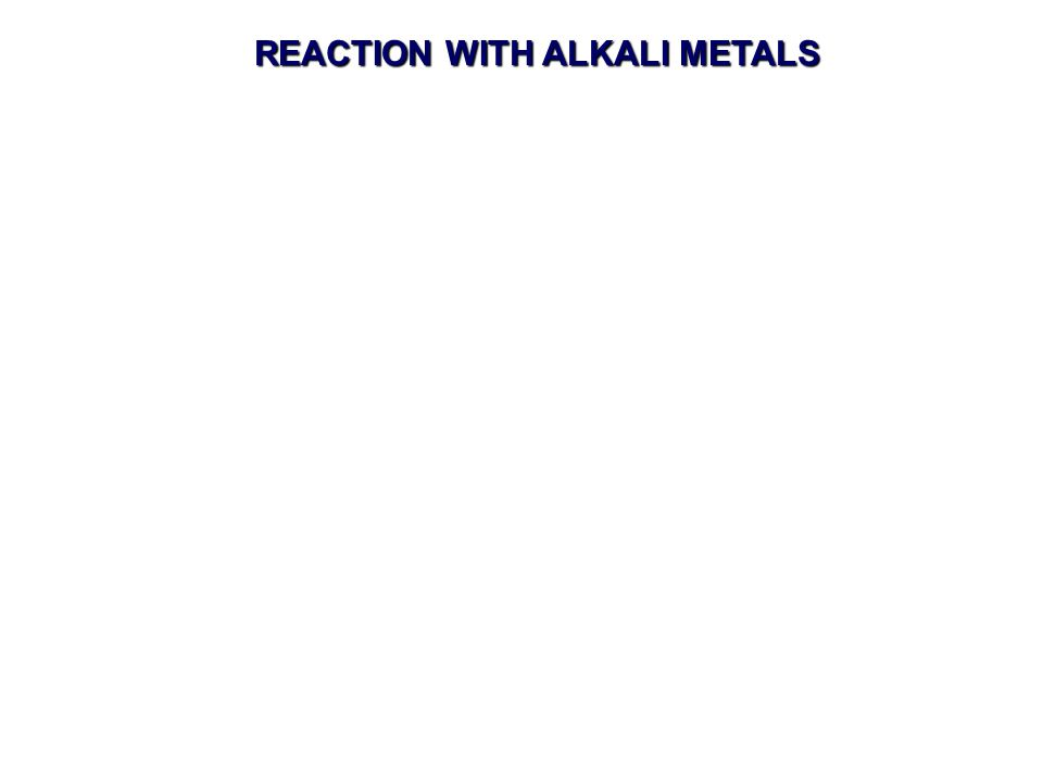 REACTION WITH ALKALI METALS