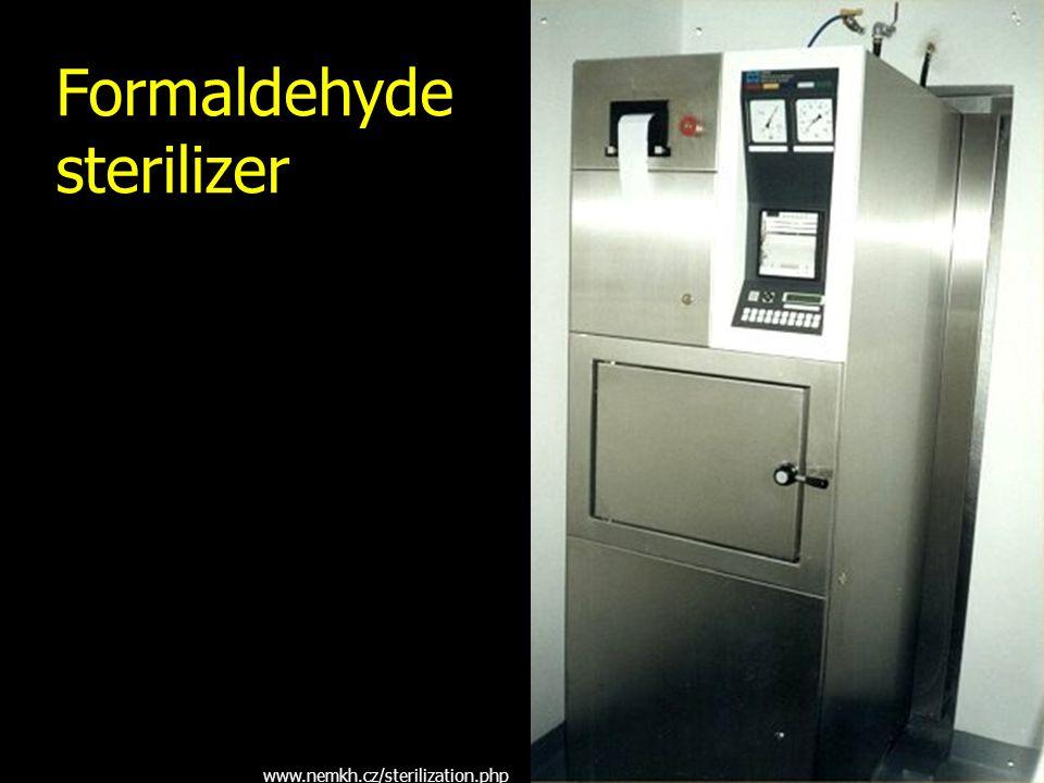 Formaldehyde sterilizer www.nemkh.cz/sterilization.php