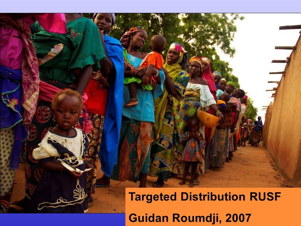 Targeted Distribution RUSF Guidan Roumdji, 2007