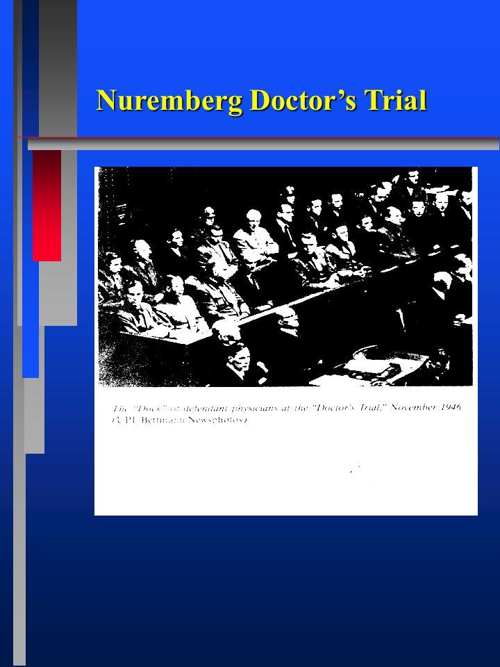 Nuremberg Doctor's Trial