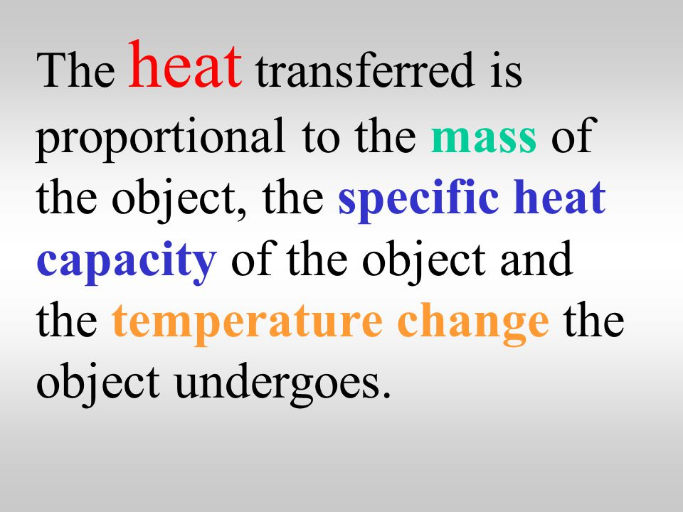 Heat is the thermal energy transferred from a hot object to a cold object.