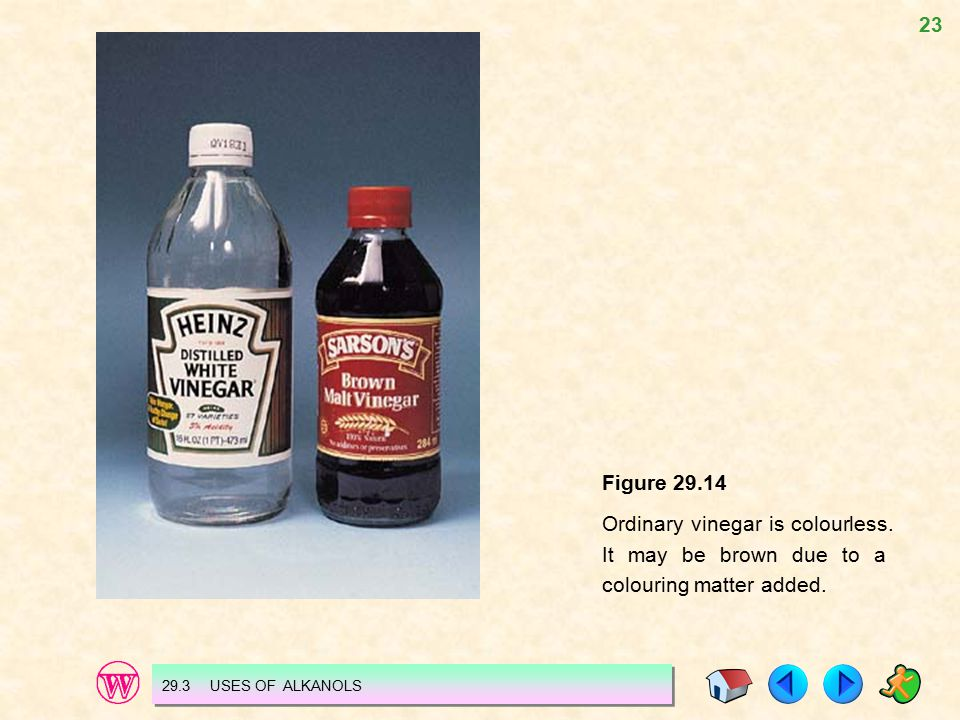 23 Figure 29.14 Ordinary vinegar is colourless.It may be brown due to a colouring matter added.