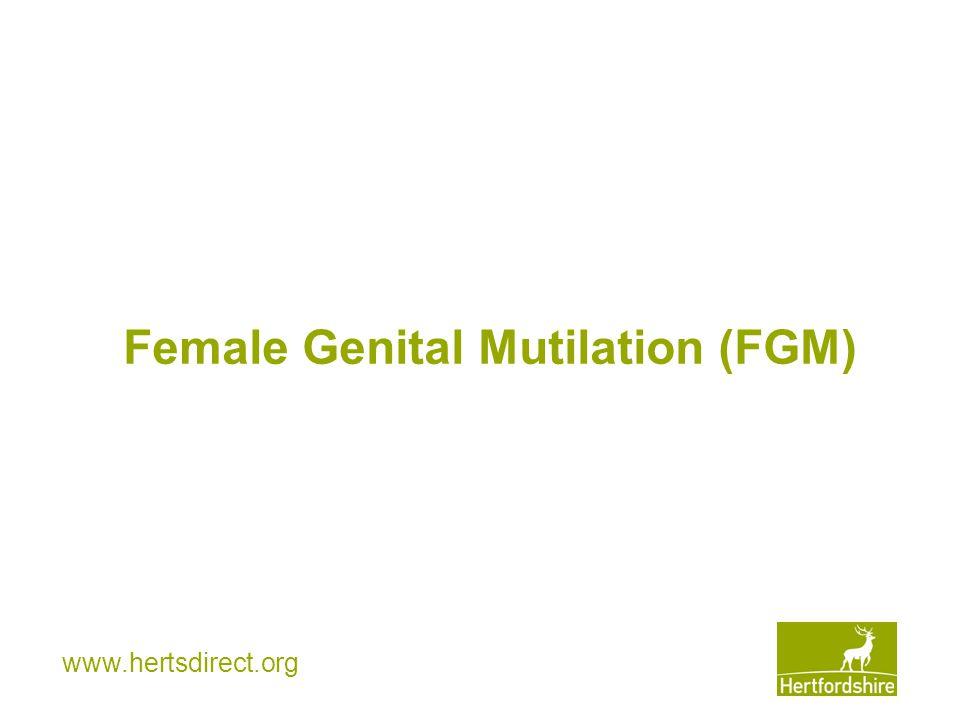 www.hertsdirect.org Female Genital Mutilation (FGM)