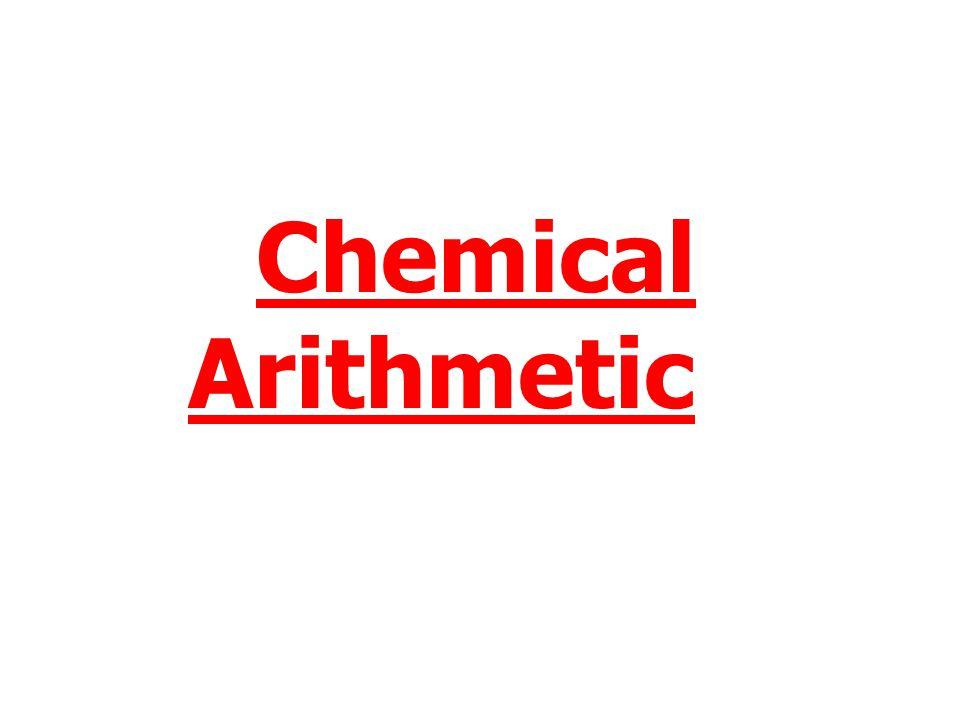 Chemical Arithmetic