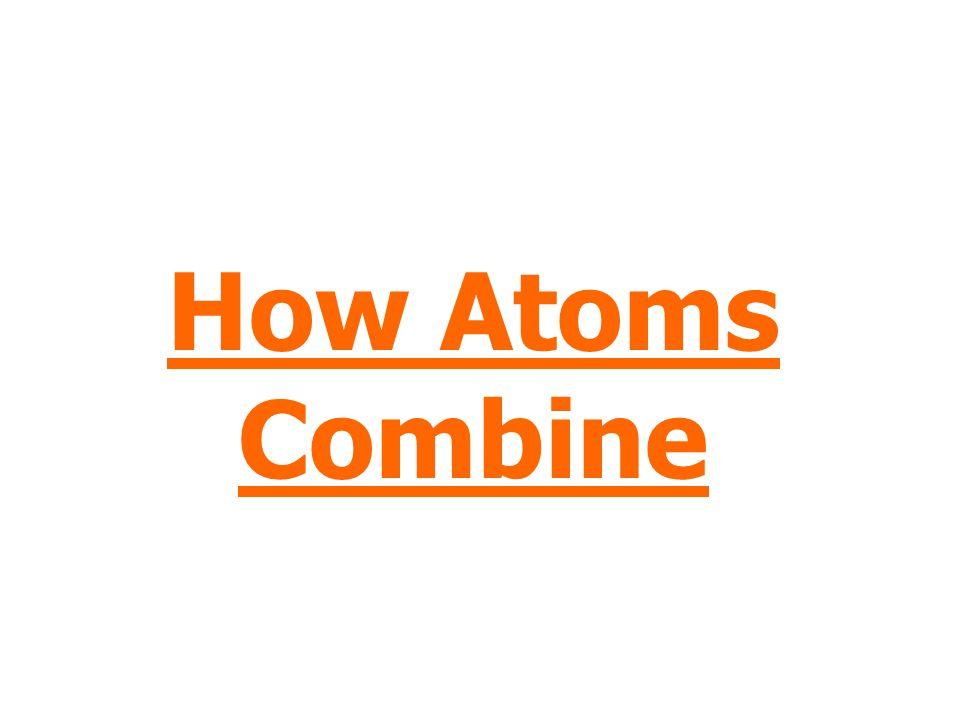 How Atoms Combine