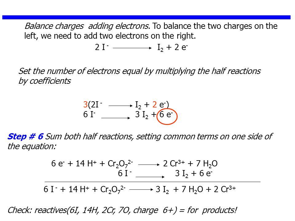 Redox Reactions Balancing, Basic Solution Balance the following reaction equation in basic solution.