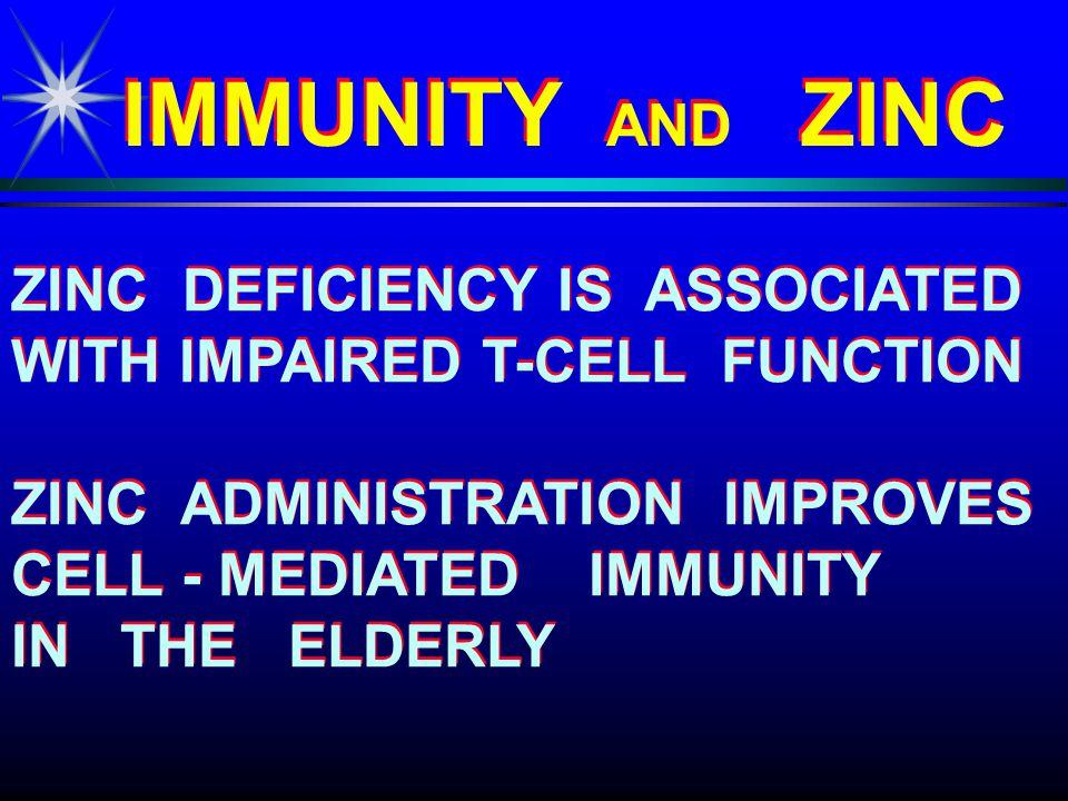 EFFECTS OF PROLONGED EFFECTS OF PROLONGED ZINC SUPPLEMENTATION ZINC SUPPLEMENTATION EFFECTS OF PROLONGED EFFECTS OF PROLONGED ZINC SUPPLEMENTATION ZINC SUPPLEMENTATION ON THE AGE - RELATED DECLINE OF THE IMMUNE SYSTEM OF THE IMMUNE SYSTEM