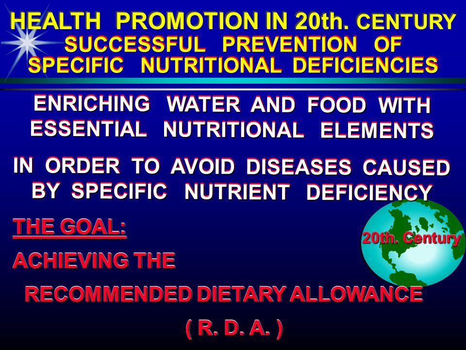 DETECTING SPECIFIC NUTRITIONAL DEFICIENCIES 20th.