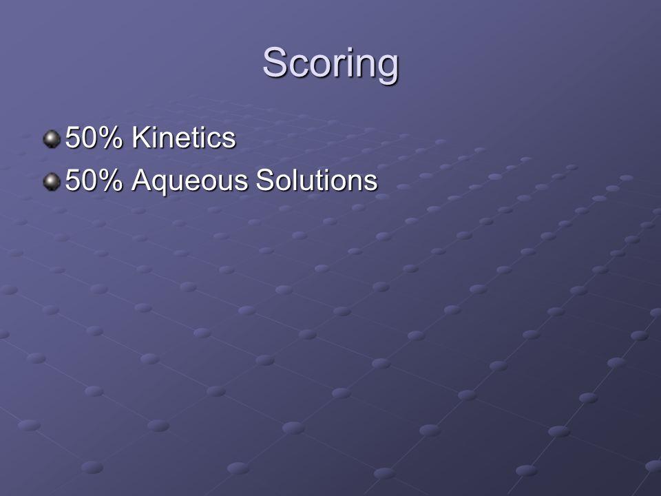 Scoring 50% Kinetics 50% Aqueous Solutions