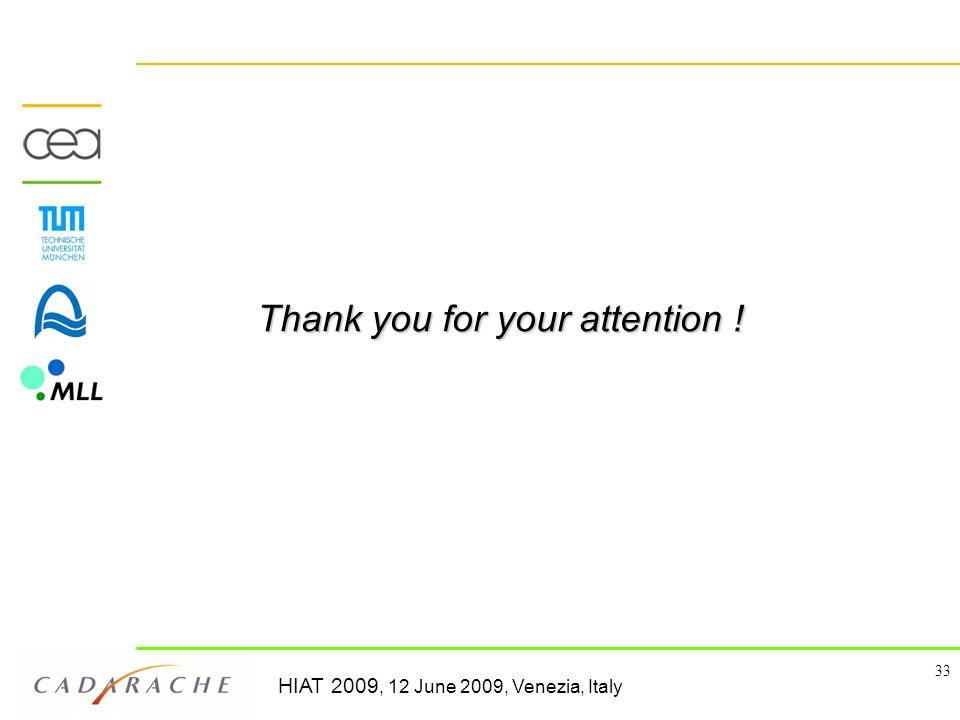 HIAT 2009, 12 June 2009, Venezia, Italy 33 Thank you for your attention !
