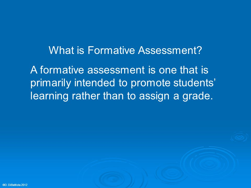 What is Formative Assessment.