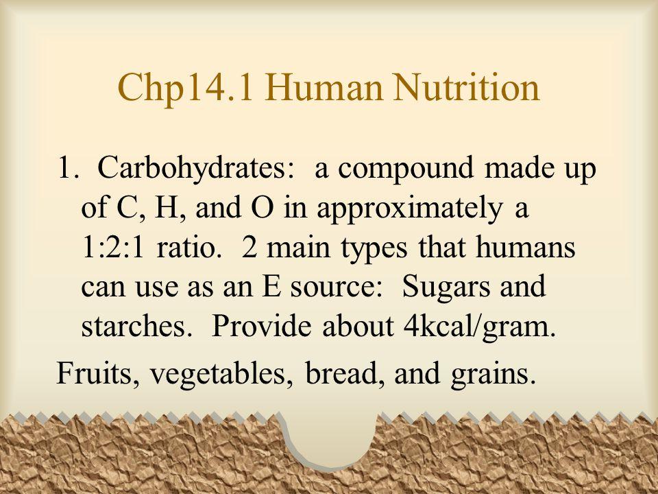 Chp14.1 Human Nutrition 1.