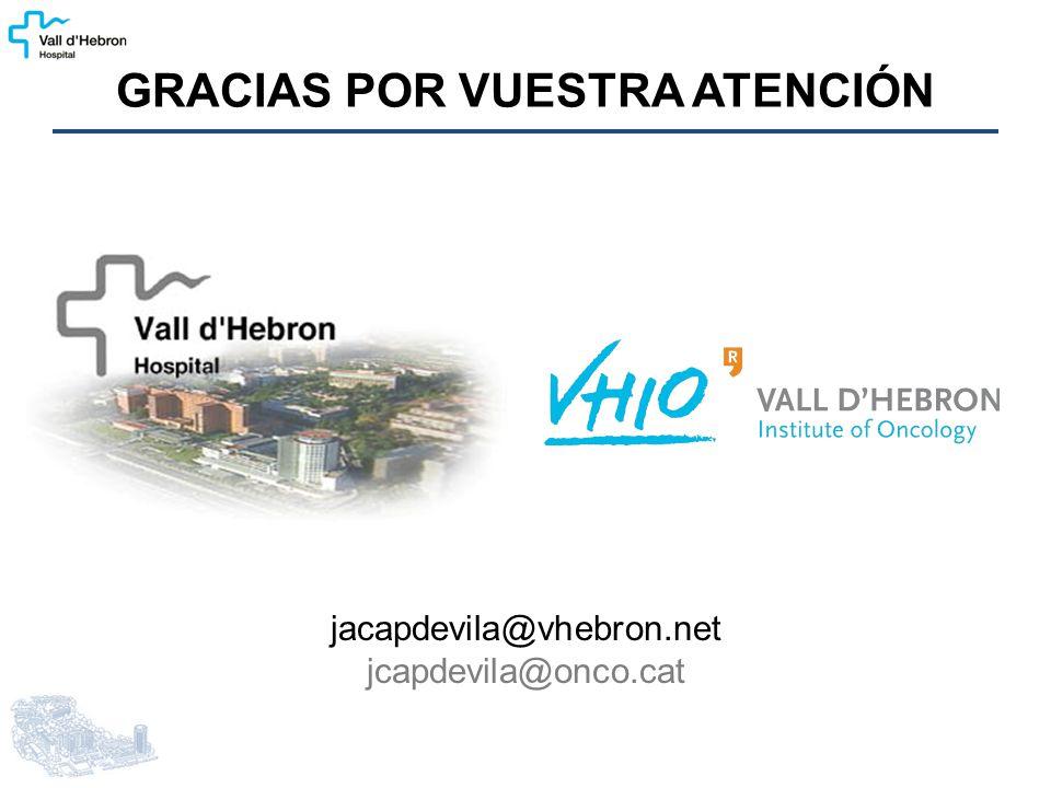 jacapdevila@vhebron.net jcapdevila@onco.cat GRACIAS POR VUESTRA ATENCIÓN