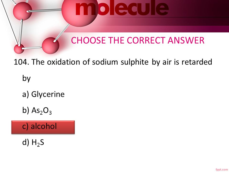 105.In the oxidation of oxalic acid by KMnO 4,the auto catalyst is a) K 2 SO 4 b) KMnO 4 c) MnSO 4 d) H 2 SO 4 CHOOSE THE CORRECT ANSWER