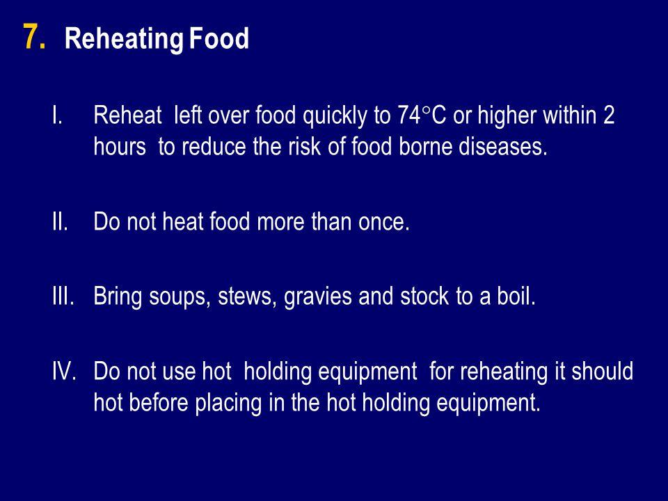 7. 7. Reheating Food I.