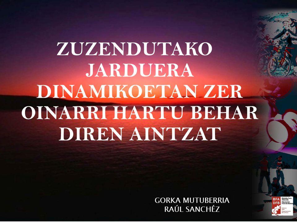 ZUZENDUTAKO JARDUERA DINAMIKOETAN ZER OINARRI HARTU BEHAR DIREN AINTZAT GORKA MUTUBERRIA RAÚL SANCHÉZ