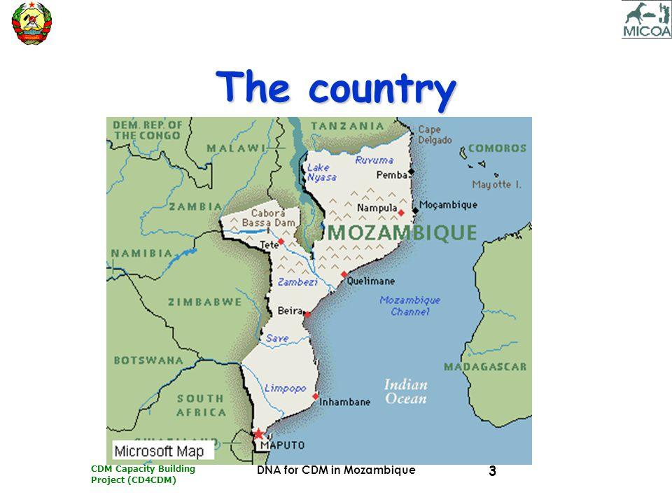 CDM Capacity Building Project (CD4CDM) DNA for CDM in Mozambique 14 Mzbq's model for DNA Technical UnitTechnical Unit –Capacity Building; –Outreach; –Promotion; –Technical & Economic assessment Members:Members: –UEM (leader); –MIREME (DNE/UTIP/FUNA E); –MADER (DNFFB/DNA); –MIC (DNI); –CPI