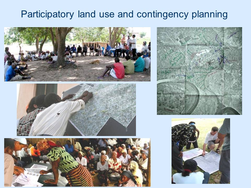 Participatory land use and contingency planning