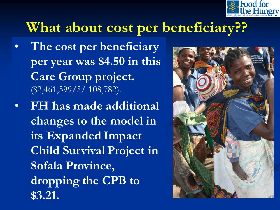 What about cost per beneficiary .