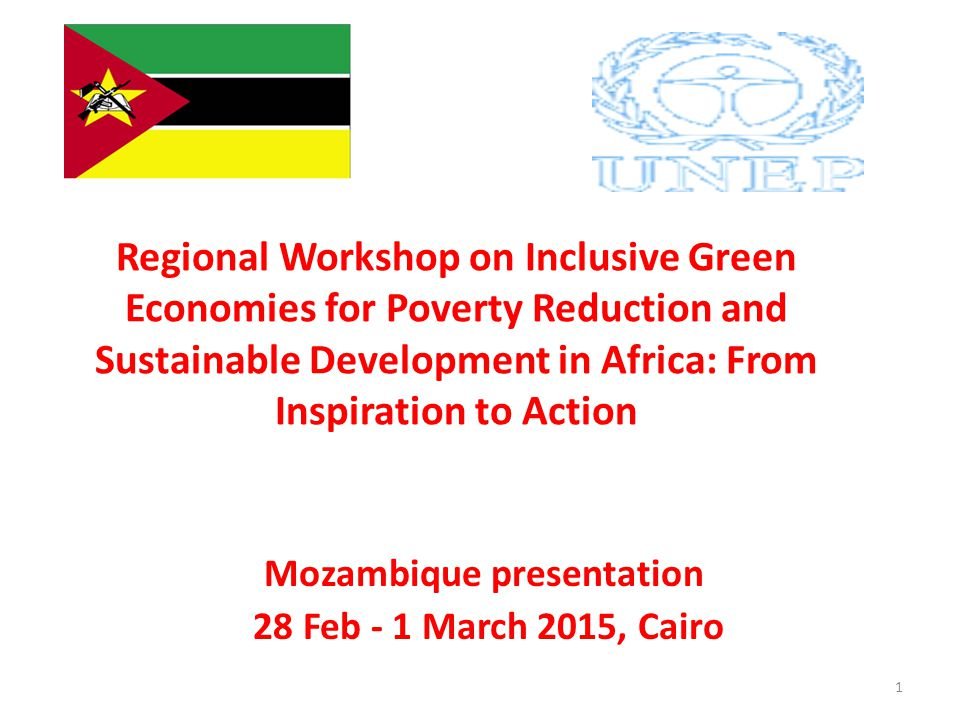 Regional Workshop on Inclusive Green Economies for Poverty Reduction and Sustainable Development in Africa: From Inspiration to Action Mozambique pres