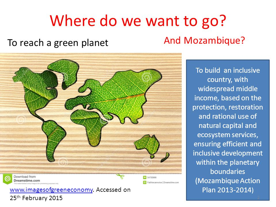 Where do we want to go? www.imagesofgreeneconomywww.imagesofgreeneconomy. Accessed on 25 th February 2015 To build an inclusive country, with widespre