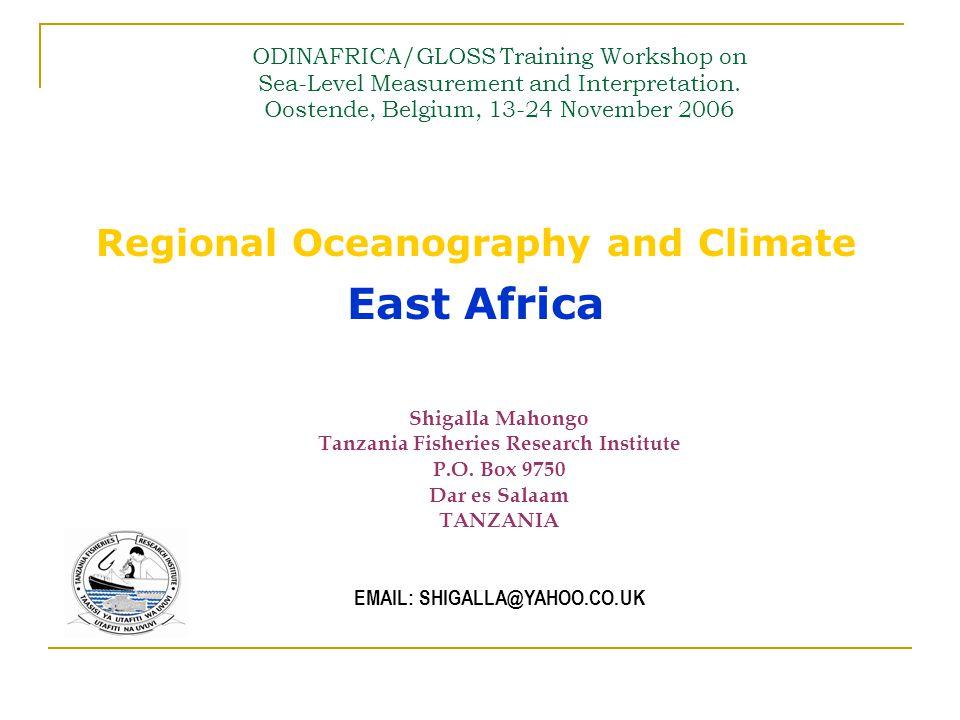 Oceanography: TIDES LocationCountry Form Factor Tide Type  Maputo AMOZAMBIQUE0.04Semidiurnal  Antonio EnesMOZAMBIQUE0.07Semidiurnal  Diego GarciaUK0.10Semidiurnal  Nacala BMOZAMBIQUE0.12Semidiurnal  Pemba BMOZAMBIQUE0.12Semidiurnal  KerguelenFRANCE0.12Semidiurnal  DzaoudziMAYOTTE0.14Semidiurnal  RodriguesMAURITIUS0.14Semidiurnal  Nozy Be MADAGASCAR0.15Semidiurnal  ZanzibarTANZANA0.16Semidiurnal  St PaulFRANCE0.17Semidiurnal  Dar es Salaam TANZANIA0.18Semidiurnal  Lamu BKENYA0.22Semidiurnal  MombasaKENYA0.23Semidiurnal  GanMALDIVES0.30Mixed, Mainly Semidiurnal  ReunionFRANCE0.35Mixed, Mainly Semidiurnal  CrozetFRANCE0.35 Mixed, Mainly Semidiurnal  Port Louis CMAURITIUS0.42 Mixed, Mainly Semidiurnal  Male BMALDIVES0.48Mixed, Mainly Semidiurnal  Port Victoria BSEYCHELLES0.49 Mixed, Mainly Semidiurnal  PraslinSEYCHELLES0.58 Mixed, Mainly Semidiurnal  HanimaadhooMALDIVES0.78 Mixed, Mainly Semidiurnal Data: UHSLC, F obtained using SLPR2 (DOS)SLPR2