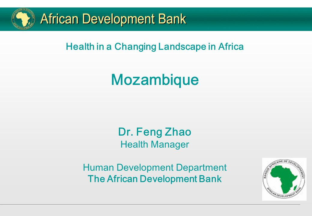 Past support to Mozambique  The Bank's involvement in Mozambique dates back to 1977, while involvement in health only commenced in 1992 when it financed a comprehensive health sector requirements study commissioned by the Government.