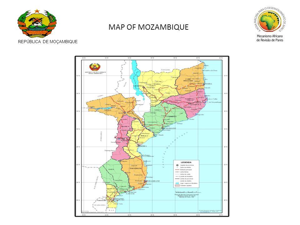 REPÚBLICA DE MOÇAMBIQUE MAP OF MOZAMBIQUE