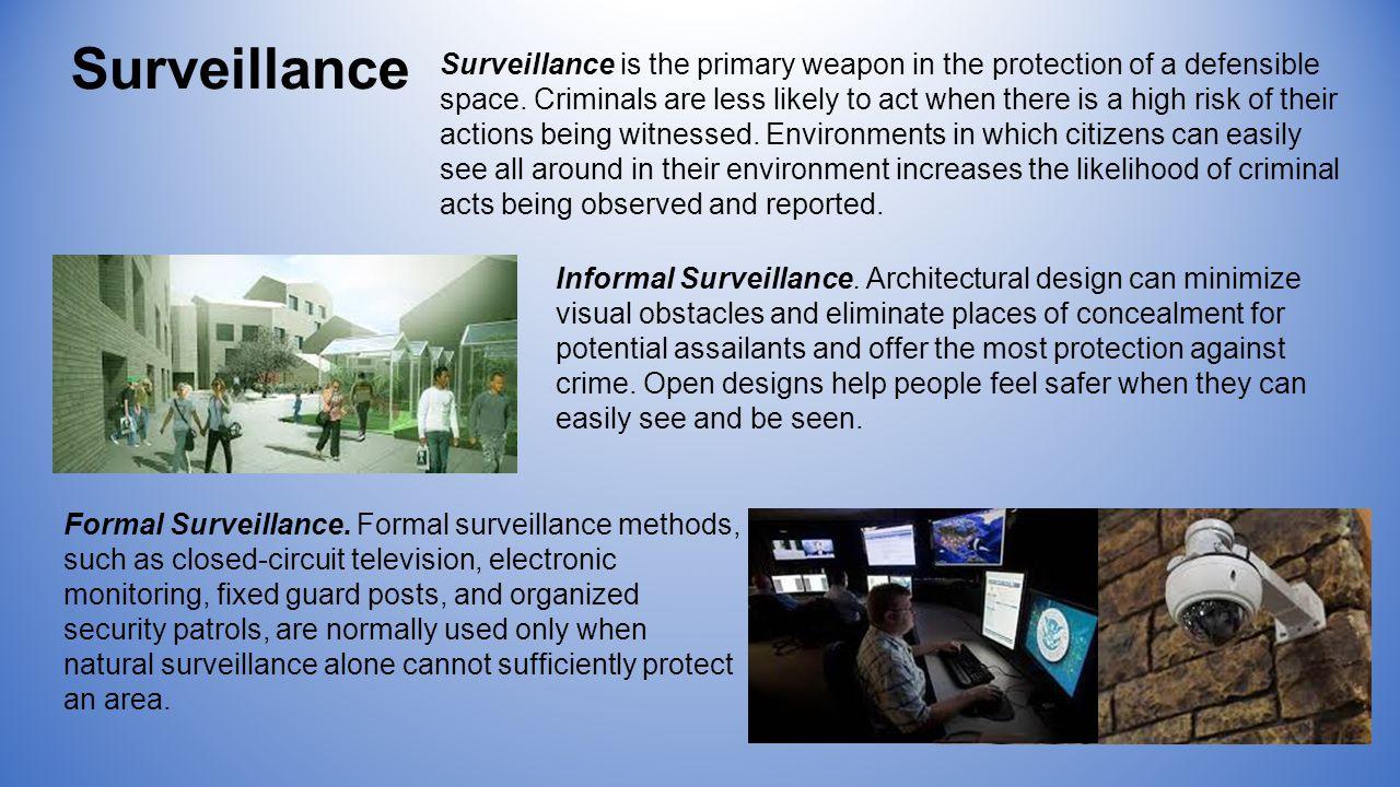 Informal Surveillance.