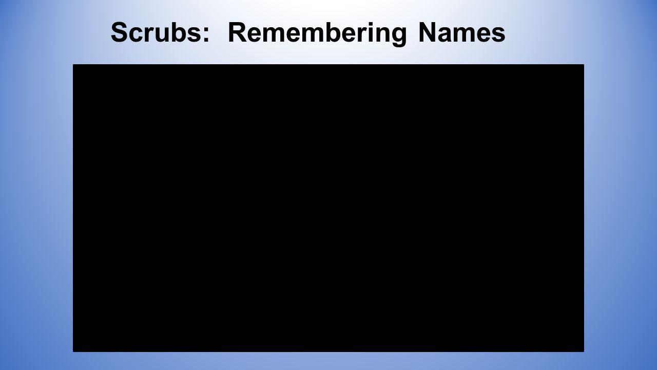 Scrubs: Remembering Names