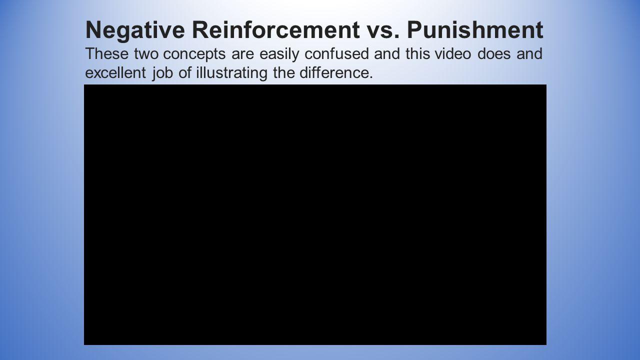 Negative Reinforcement vs.