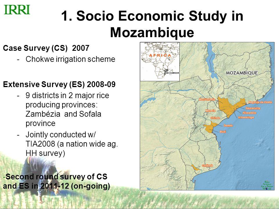 Results from Mozambique ES & CS CS (Irrigated) ES (Rainfed) No.