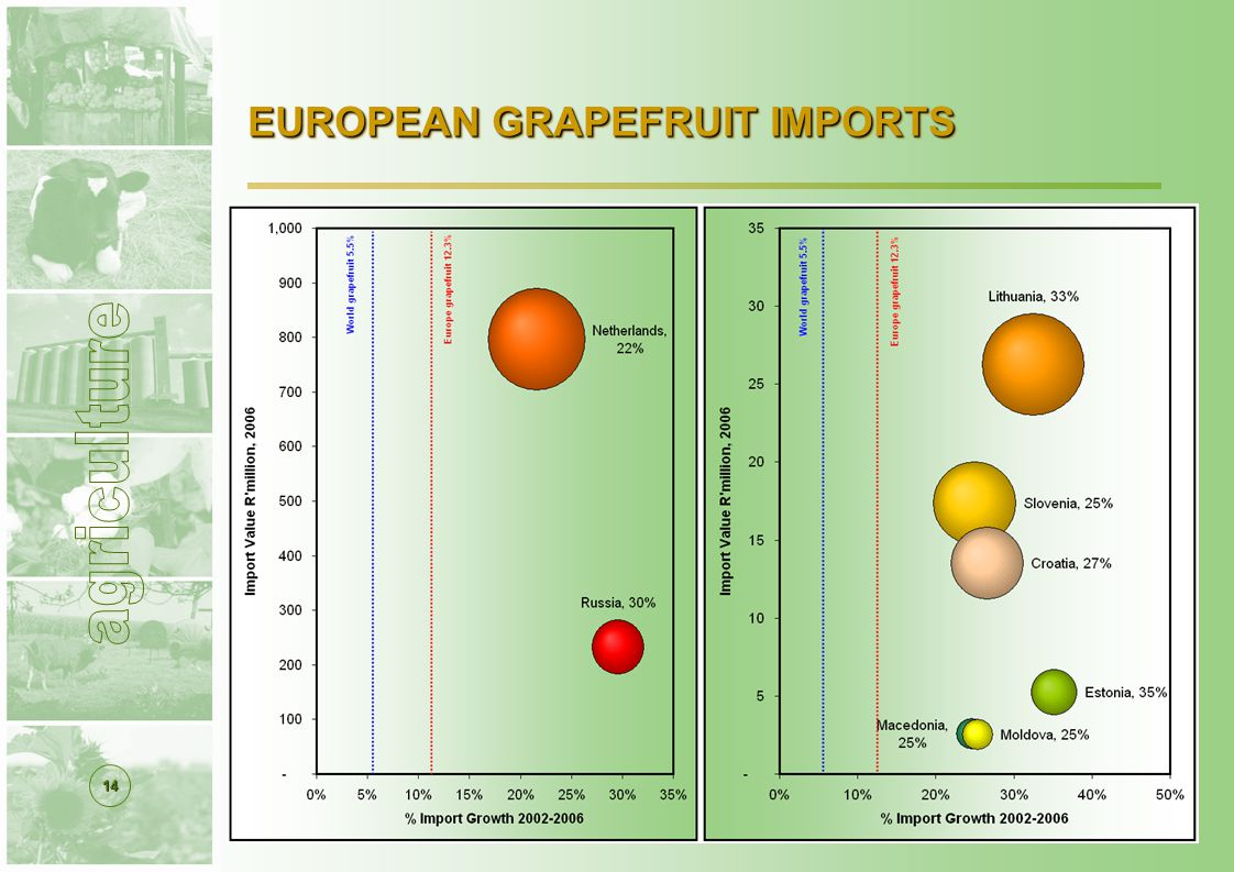 14 EUROPEAN GRAPEFRUIT IMPORTS
