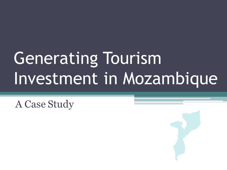 Mozambique 20 million Capital Maputo Arrivals; 770,000 (2007) Portugal (top international) South African (top regional) Tourism assets; Beaches 15% PAs Marine Cultural (business)