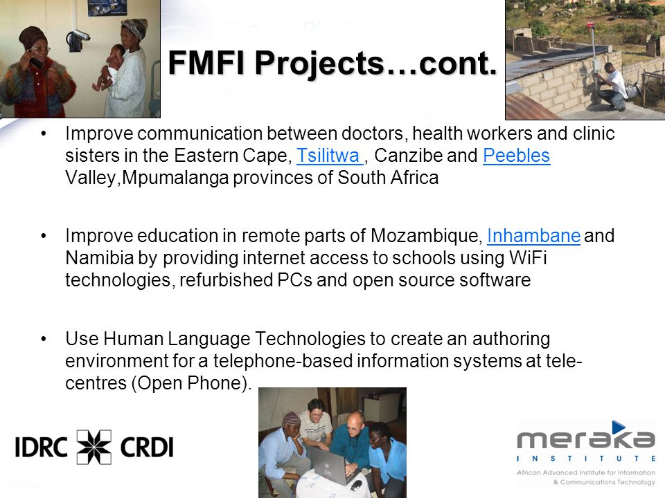 FMFI Projects…cont.