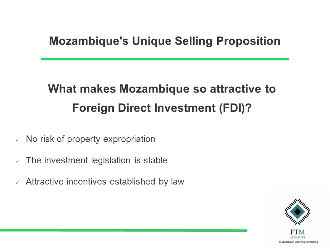What makes Mozambique so attractive to Foreign Direct Investment (FDI).