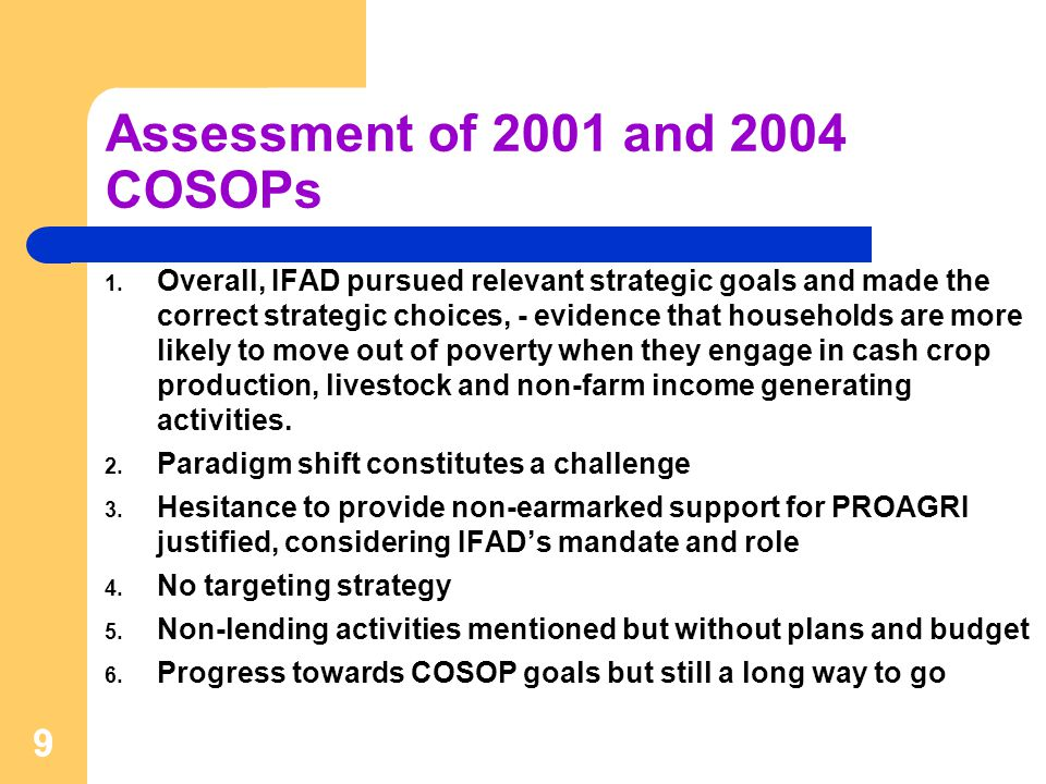 10 Portfolio Performance: Positives 1.Portfolio objectives are highly relevant in terms of the needs of the rural poor, and GoM and IFAD policies.