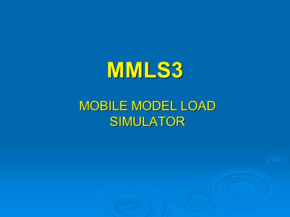 MMLS3 MOBILE MODEL LOAD SIMULATOR