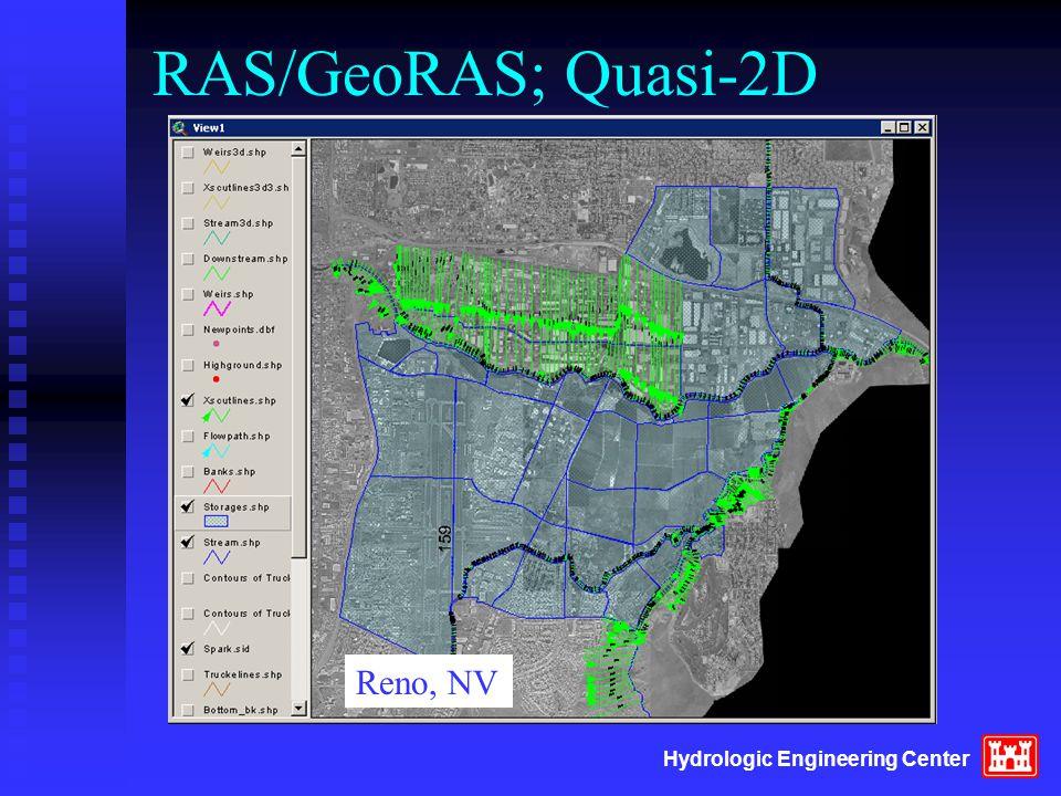 Hydrologic Engineering Center RAS/GeoRAS; Quasi-2D Reno, NV