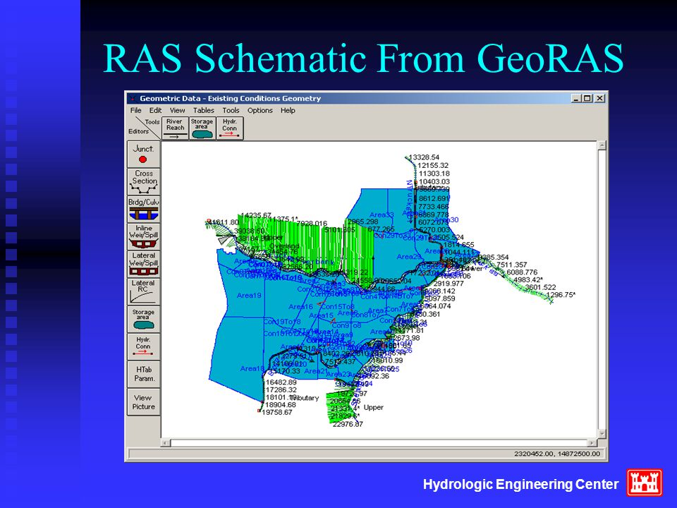 Hydrologic Engineering Center RAS Schematic From GeoRAS
