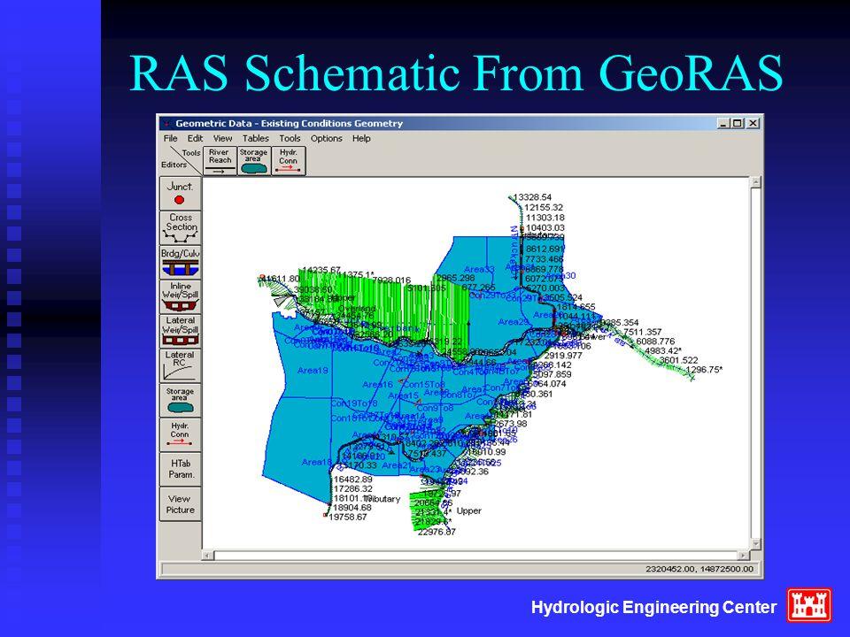 Hydrologic Engineering Center RAS Schematic From GeoRAS