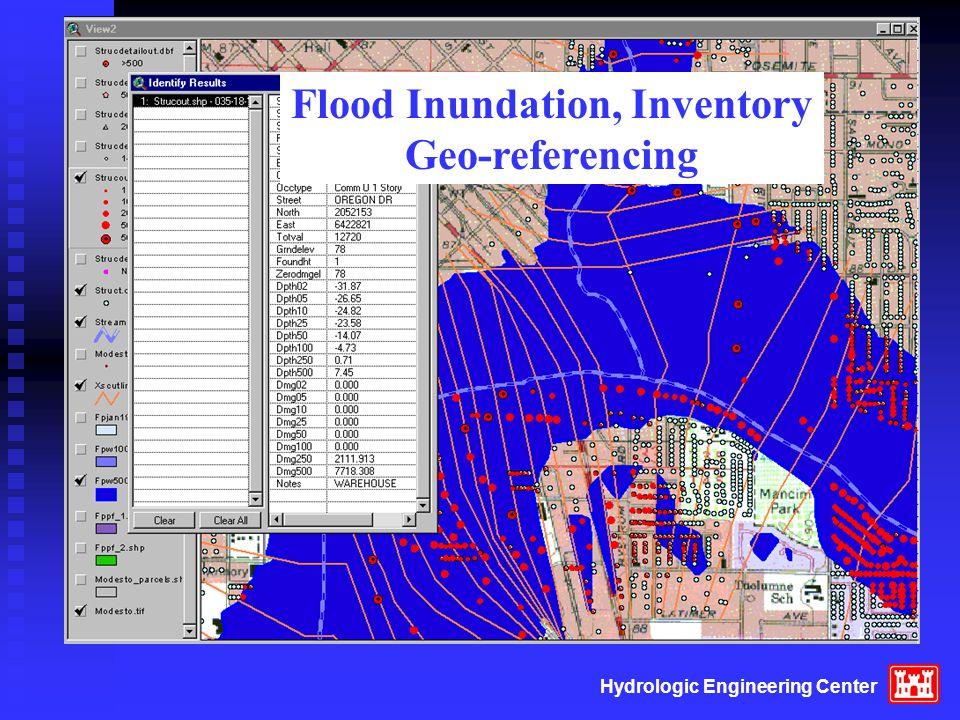 Hydrologic Engineering Center Flood Inundation, Inventory Geo-referencing