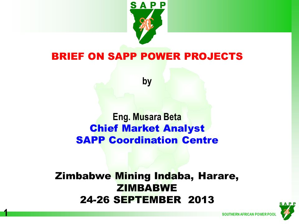 SOUTHERN AFRICAN POWER POOL 12  Mozambique - Malawi Utility Project Teams formed and communication protocol set.