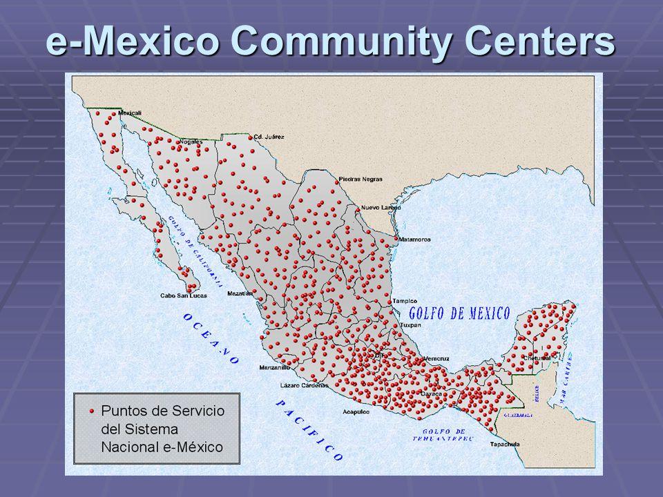 e-Mexico Community Centers
