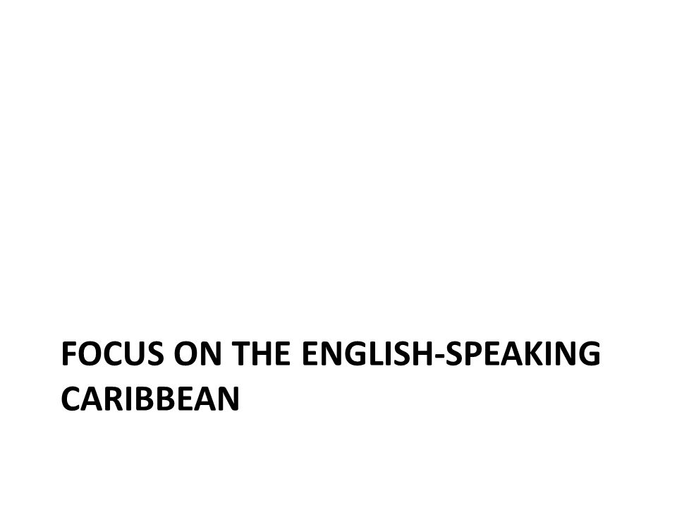 Focus on the Caribbean Caribbean: a micro-cosmos of a traditional sugar industry and EU/ACP sugar trade relations – Export-oriented sugar economies since the 1600s – Workers and employment – Ownership: state-owned and privately-run estates – Independent farmers – Relation with state and government agencies – Cultural, social, political in addition to economics – Size of the industry: possibility of a comprehensive cover – What sort of industry can be built.