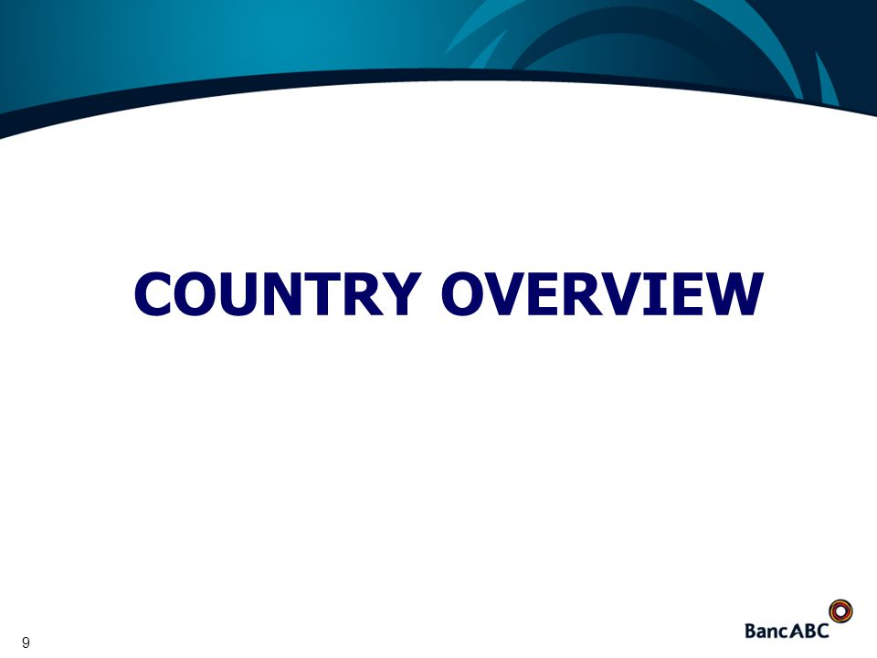 9 COUNTRY OVERVIEW