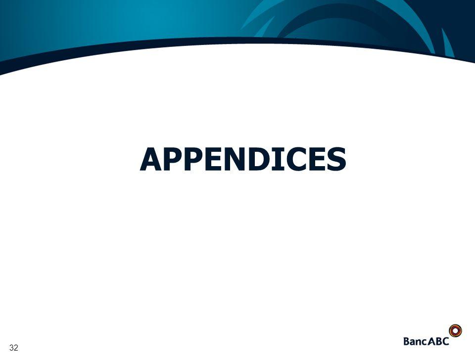 32 APPENDICES