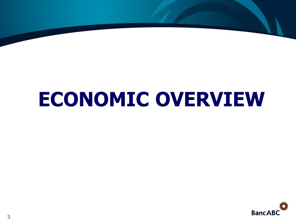 3 ECONOMIC OVERVIEW