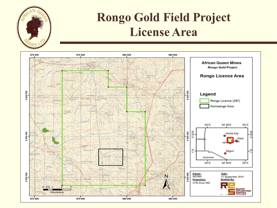 Rongo Gold Field Project License Area
